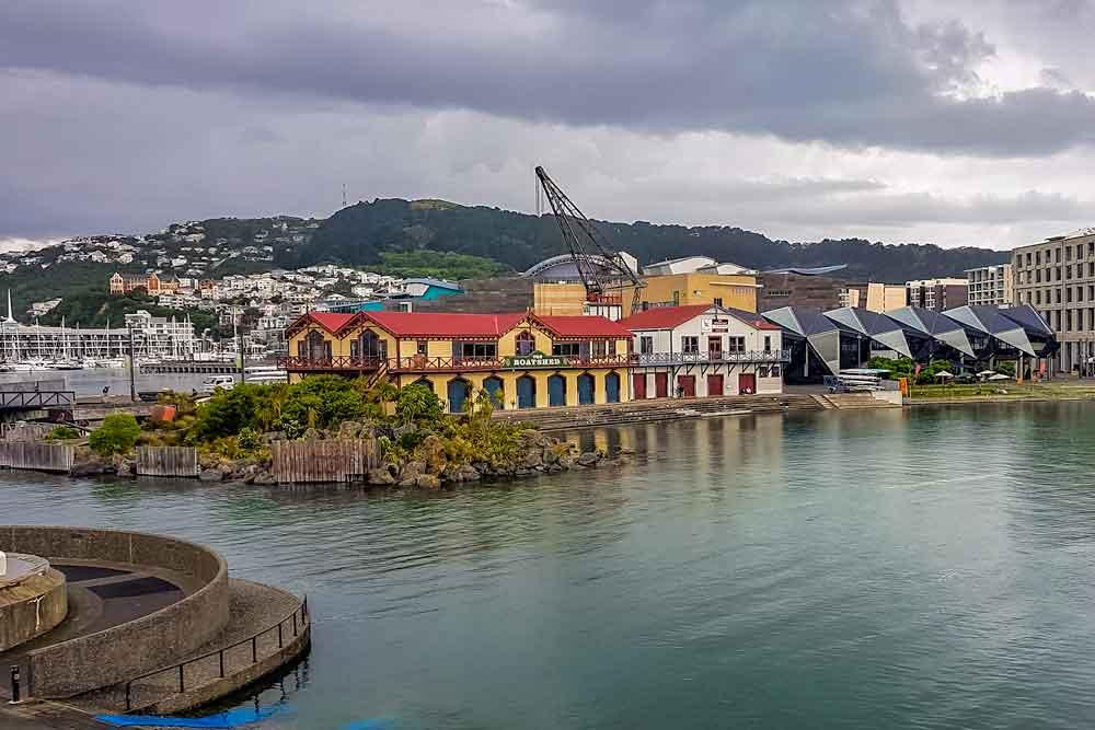 Whairepo lagoon on Wellington waterfront