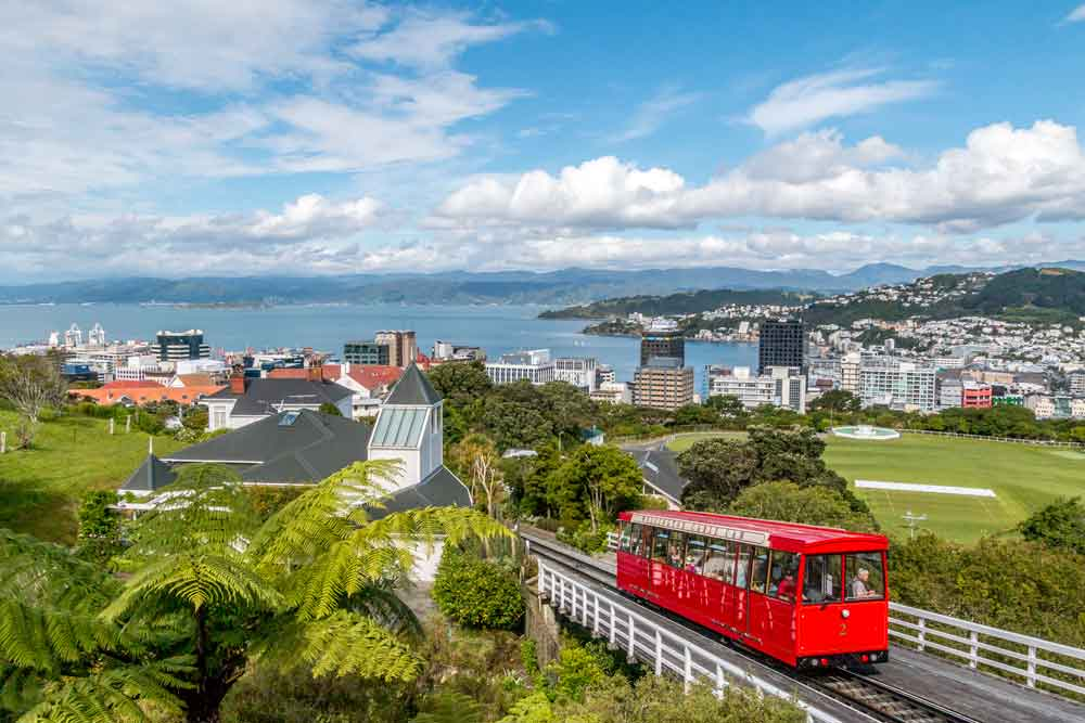 Wellington cable car and view from the top