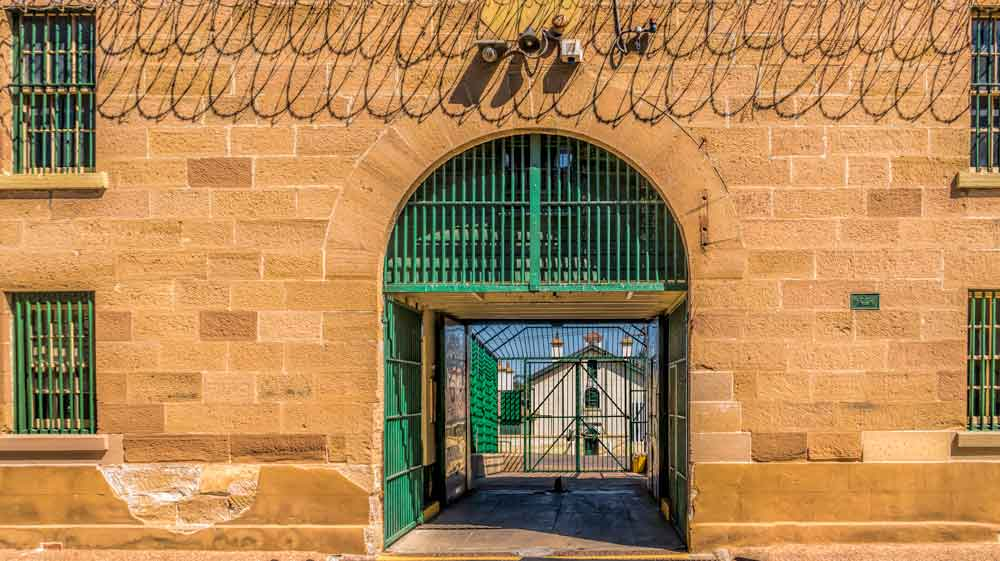 Entrance to the historic Maitland Gaol