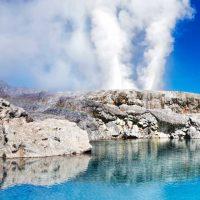 Pohutu geyser in Rotorua New Zealand