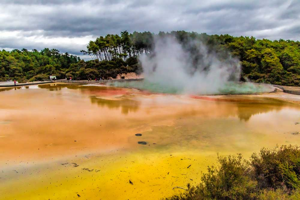 Artists Palette geothermal pool at Wai-o-tapu