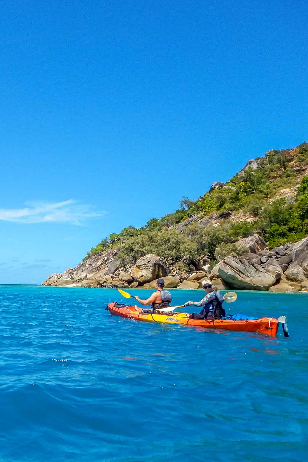 Kayakers off Fitzroy Island