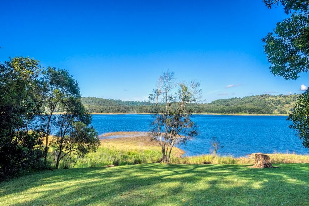 Lake Baroon from the Montville side looking back at Maleny