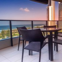 The view from Pepper Broadbeach apartment over the park and ocean