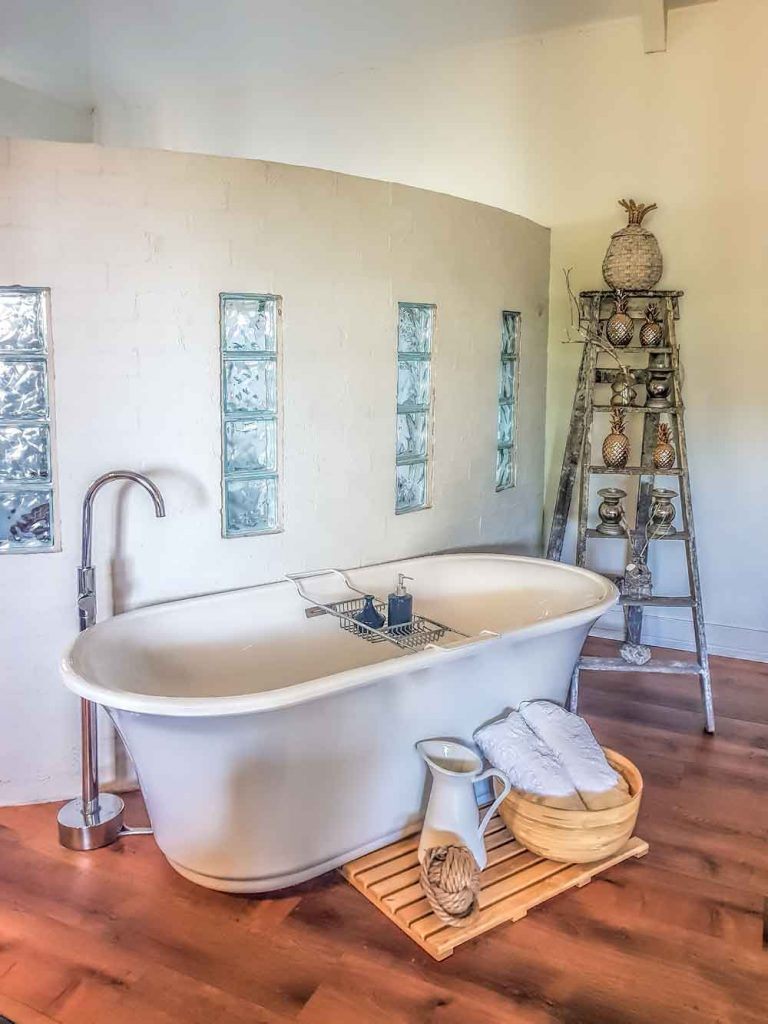 Claw foot bath at The Villa, Morpeth