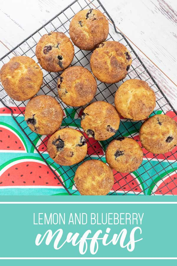 Lemon and blueberry muffins on pinterest poster