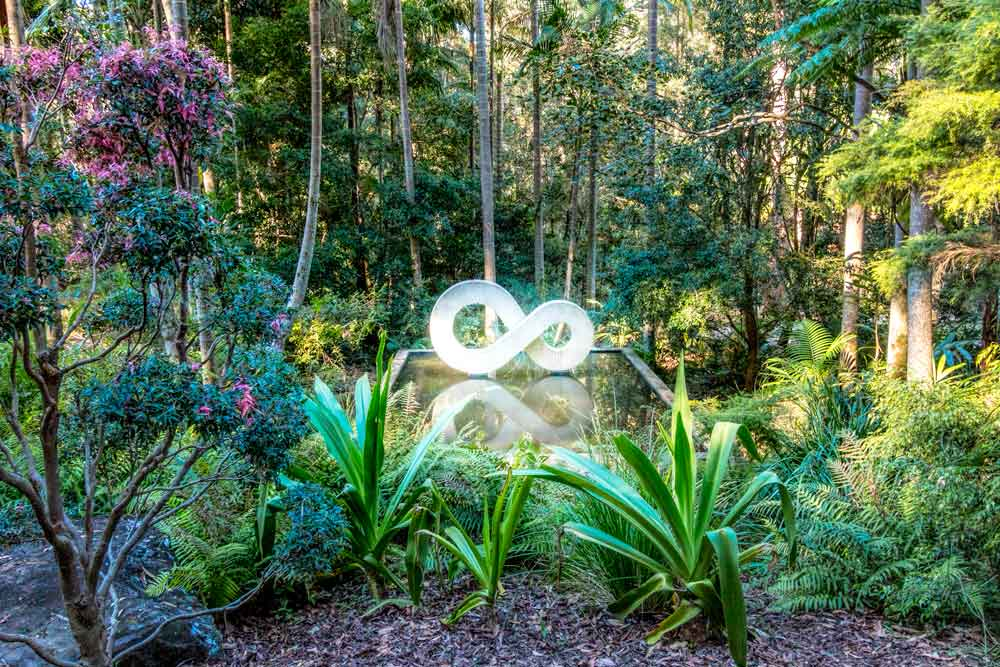 Infinity sculpture at Maroochy botanic gardens