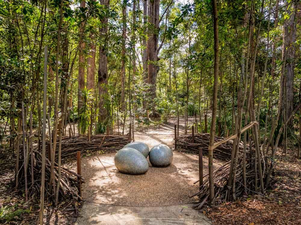 Maroochy botanic gardens nest sculpture