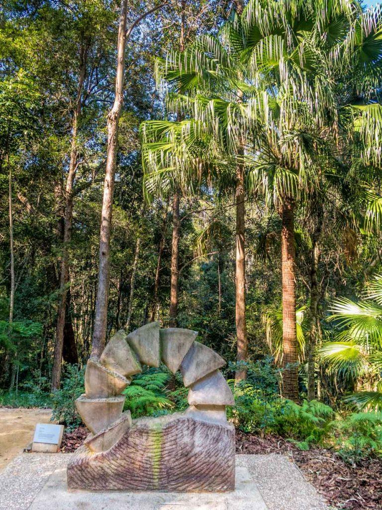 Cycle sculpture at Maroochy Botanic Gardens