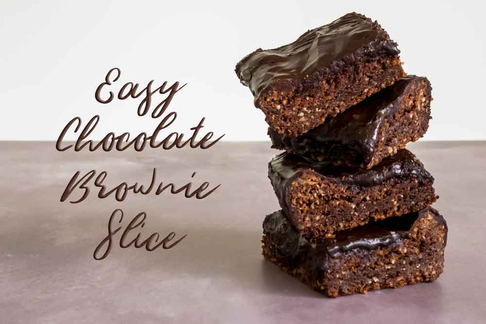 Easy chocolate brown slices stacked up