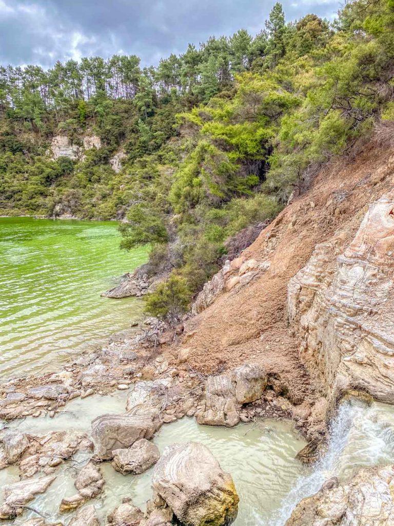 Where Puna o Ngakoro flows into the lake