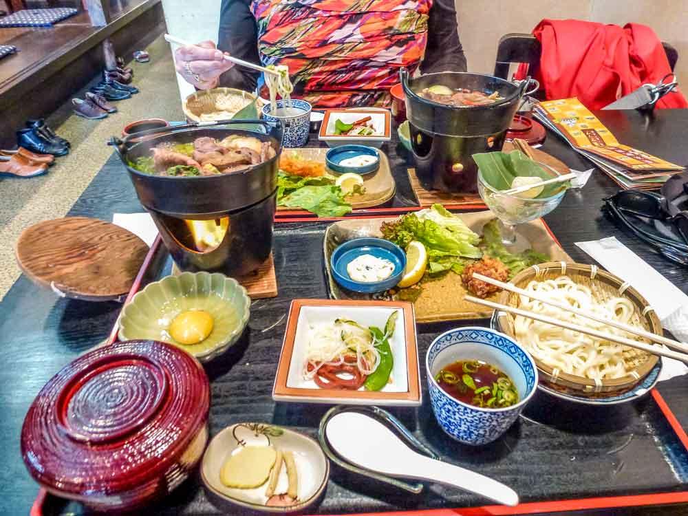 Nabe set in Nagahama