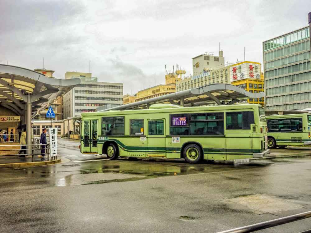 Raku bus at Kyoto Station