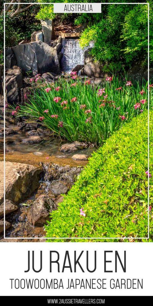 Toowoomba Japanese garden pinterest poster