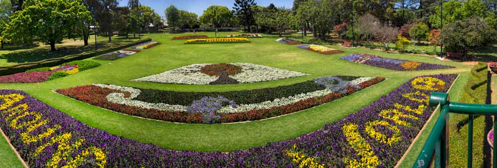 Floral display at Carnival of Flowers in Toowoomba