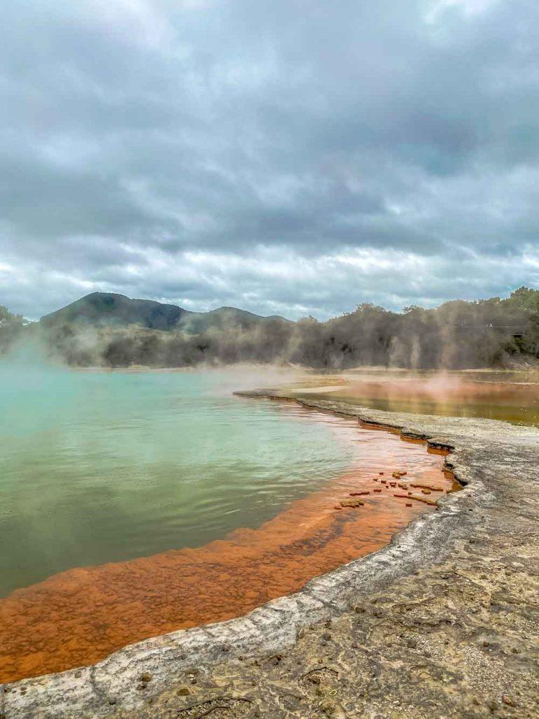 Champagne pool at Waiotapu thermal wonderland