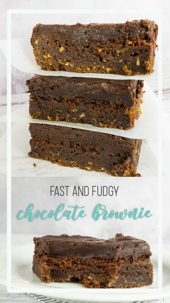 Choclate brownie slice poster for pinterest