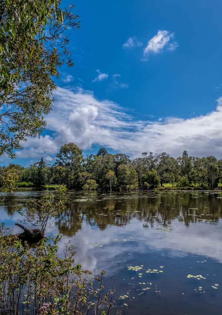 Lagoon at Crystal Waters Park in Thornlands, Brisbane
