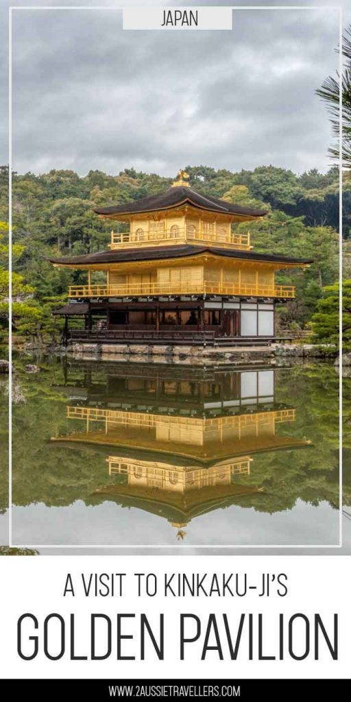 Golden Pavilion in Kyoto pinterest poster