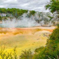 Colourful thermal pools at Wai-o-Tapu
