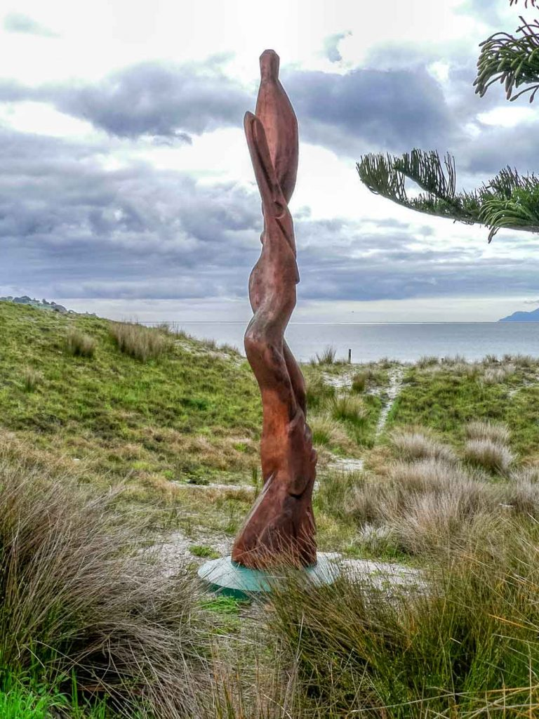 Sculpture in the dunes behind Omaha beach