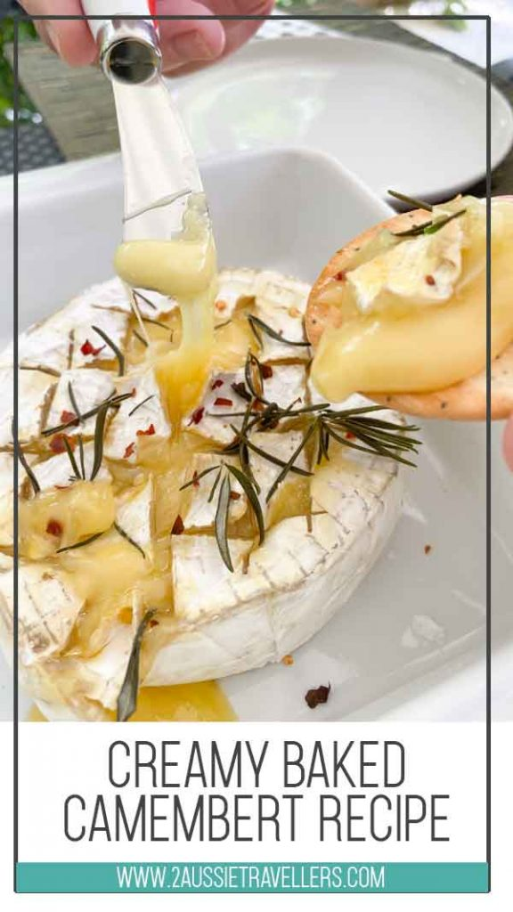 creamy baked camembert recipe pinterest poster