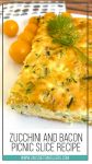 Zucchini and bacon recipe pinterest poster