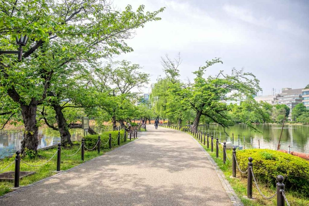 Walking paths through Ueno Park