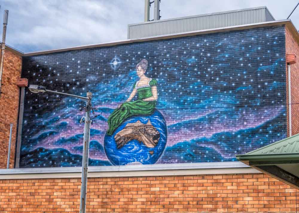 'Our World' mural in Maryborough tells the story of the naming of the city and river