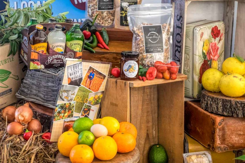 Produce displayed at Taste Bundaberg Festival market