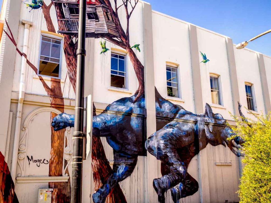 Street art by Magee in Toowoomba