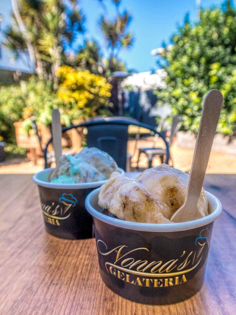 Ice creams by Nanas Pantry Bundaberg at the Windmill Cafe