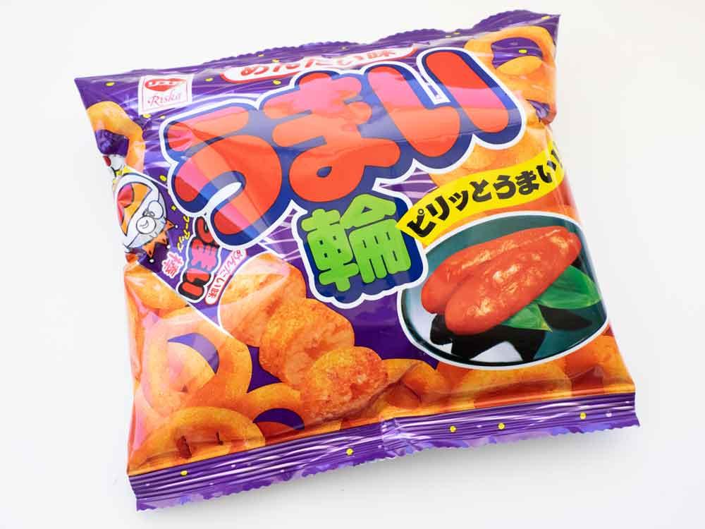 Mantaiko flavoured corn puffs